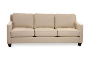 FABRIC BEIGE SOFA USED FOR HOME STAGING ONLY $675