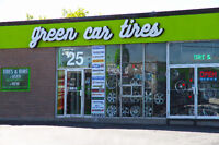GREEN CAR TIRES- NEW & USED TIRES & RIMS- AUGUST SPECIALS