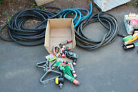 3 commercial  3/4 INCH hoses,, kink proof and crush proof ends
