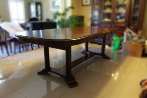 Beautiful Dark Maple Dining Table
