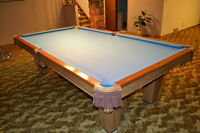 Brunswick Pool Table with All Accessories and Pool Light