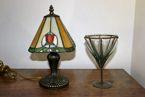 VINTAGE-LOOK LAMP & CANDY DISH