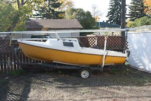 1982 DS16 Sailboat with trailer and 5 hp Honda motor