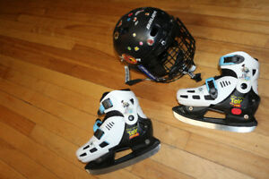 Ice skate and helmet (Patin à glace et casque)