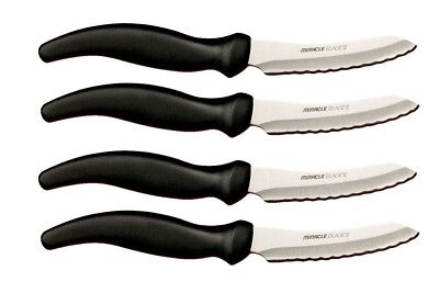 NEW MIRACLE BLADE FOUR STEAK KNIVES (4 steak knives) Super Sale !!!