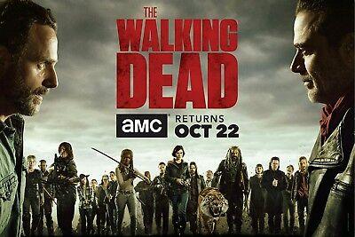 "The Walking Dead Season 8 Premiere Poster 2017 TV series New 13×20 24×36"" 32×48"""