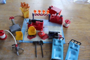 Playmobil extras for Fire Stations...hose, pumps, furniture