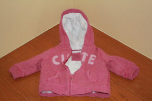 6-12 MONTHS PINK COAT / SWEATER / JACKET