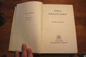 Two Solitudes by Hugh MacLennan 1945