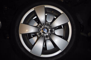 BMW 5-series rims (7.5Jx17 ET20) winter tires (225/50R17)