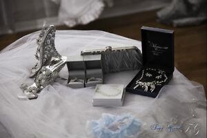 WEDDING BRIDAL GOWN - MERMAID - LUSTROUS SATIN WITH EMBROIDERY Gatineau Ottawa / Gatineau Area image 9