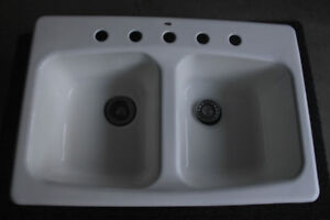 Kitchen sink, double,  made by Kohle