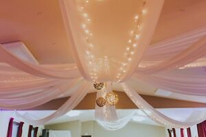 Bridal Chiffon Ceiling Decoration