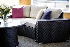 8 Piece Round Outdoor Patio Sectional - Brand New + Free Cover