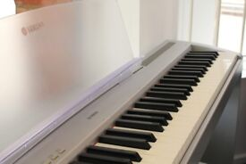 Preowned Yamaha P-95 Silver Digital Portable Keyboard with Stand