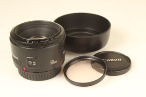 Canon EF 50mm f1.8 Mark II lens with Marumi Skylight Filter
