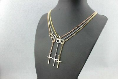 Gold Plated Rose Cross (Women Fashion Jewelry Rose Gold Plated Infinity Cross Necklace 58-3 )