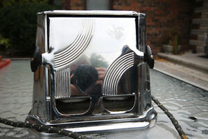 1930'S ART DECO CHROME TOASTER