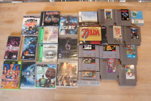 Classic Games! NES SNES PS1 PSP PS3 XBOX DS