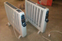 2 Large electric Heaters