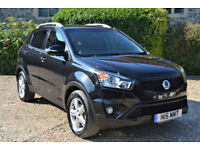 Ssangyong Korando 2.0TD ( 175ps ) 4X4 Auto 2015 ELX4, 45K MILES, 1 OWNER FSH,