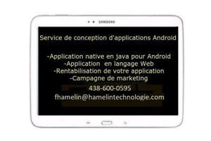 Conception d'applications Android et iOS 700$ ET +
