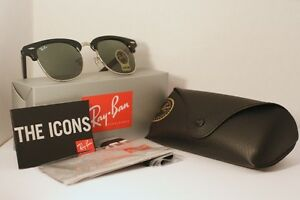 Ray Ban Clubmaster Classic - Black and Silver