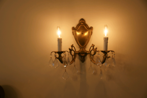 Sconces wall lights  bronze and crystal