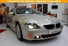 2007 BMW 6 SERIES 3.0 630I SPORT 2D 255 BHP