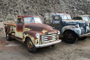 1950 GMC 5 window De Luxe cab one ton pickup project truck