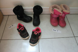Shoes, Winter Boots and Rubber Boots - Size 5, 6, 7, 8