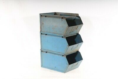 Old Storage Metal Industrial Design Lagersichtbehälter Metal Box Stacking Boxes