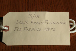 3/16 SOLID BRAID POLYESTER LINE FOR COMMERCIAL FISHING NETS