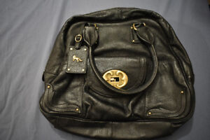 Emma Fox Black Leather Bowler Bag new lower price! !