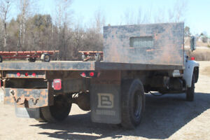 For Sale  - Ford F600 Diesel Flat Bed Truck