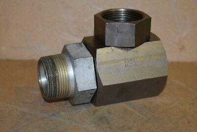 Hydraulic Swivel Elbow 90 1-14 Female Npsm X Male Npt 5500-20 Aeroquip