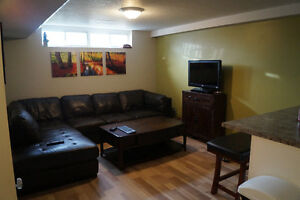 Incl. Bright & spacious basement apt. minutes from college & 401