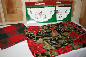 O.  Christmas Linens- See photos