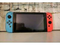 Nintendo Switch Neon Red and Blue *Boxed* 1 game