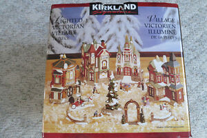 Kirkland Victorian Lighted Porcelain Village – 18 Pieces