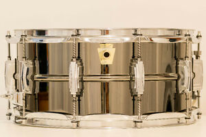 Ludwig Brass Shell Black Beauty Snare Drum 14X6.5