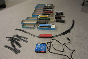 HO Model Train Set with Track and Transformer