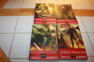 Lot of 4 Books by Andrzej Sapkowski- The Witcher