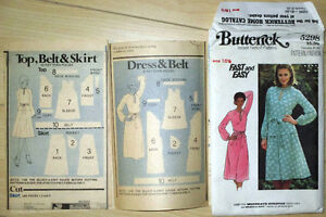 Butterick Sewing Pattern 5298 Woman Dress Top & Skirt - Uncut