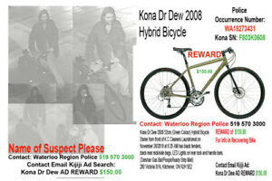 Kona Dr Dew REWARD $150 Info to Recover Stolen Bicycle Rare