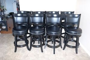 4 BAR  COUNTER HEIGHT SWIVEL STOOLS