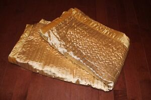 Two new gold throws great gift $15 each Windsor Region Ontario image 1