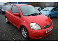 Toyota Yaris 1.3 VVT-I T Spirit ** 3 MONTH WARRANTY ** (red) 2003