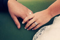 ENGAGEMENT RING WITH WEDDING BANDS