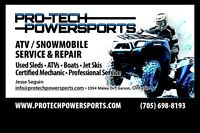 Pro-Tech Powersports--Service, Repairs & Tune-ups--ALL MAKES!!